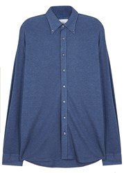 Oscar Jacobson Harry Navy Cotton Jersey Shirt