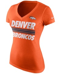 Nike Women's Denver Broncos Team Stripe T Shirt Orange