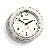 Newgate Clocks The Mini Cookhouse Clock Linen White
