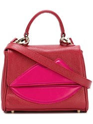 Sara Battaglia Mini 'Lips' Tote Red