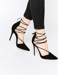 New Look Heeled Ghillie Court Shoe Black