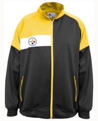 Majestic Men's Pittsburgh Steelers Court Track Jacket Black Yellow White