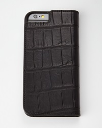 Black Alligator Iphone 6 Wallet Folio Case Mate