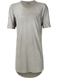 Lost And Found Long Panelled T Shirt Grey