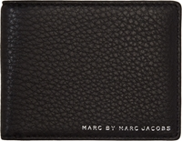 Marc By Marc Jacobs Black Grained Leather Martin Bifold Wallet