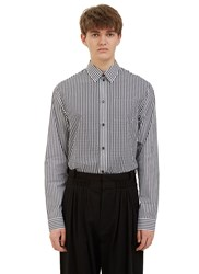 J.W.Anderson Gingham Contrast Stripe Shirt Black