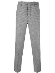 Ami Alexandre Mattiussi Houndstooth Trousers Black