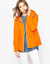 Gloverall Showerproof Jacket With Front Pockets Tangerine Orange