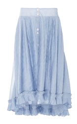 Thierry Colson Romane Pleated Skirt Blue