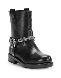 Karl Lagerfeld Vernet Leather Ankle Boots Black