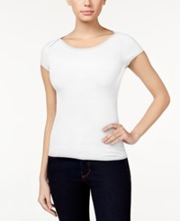 Polly And Esther Juniors' Scoop Neck T Shirt White