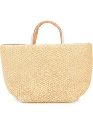 Ermanno Scervino Embellished Handle Tote Nude And Neutrals