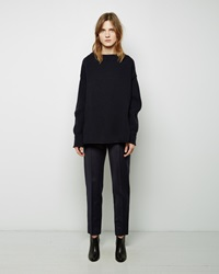 Maison Margiela Line 4 Cropped Wool Trouser Navy