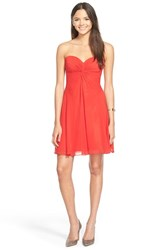 Women's Faviana Sweetheart Chiffon Fit And Flare Dress