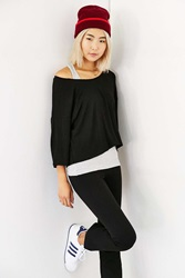 Silence And Noise Silence Noise Monica Layered Two In One Top Black