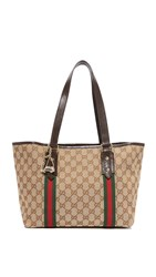 Wgaca Gucci Jolicoeur Tote Previously Owned Brown