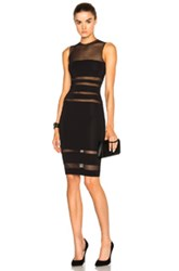 Alexandre Vauthier Sheer Band Dress In Black