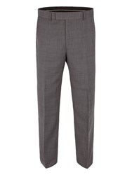 Pierre Cardin Check Regular Fit Trousers Grey
