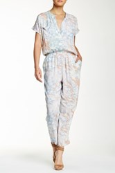 Ganesh Printed Short Sleeve Jumpsuit Multi