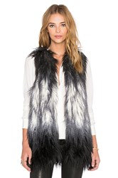 Fifteen Twenty Ombre Faux Fur Vest Gray