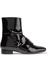 Dorateymur Biturbo Embellished Patent Leather Ankle Boots Black