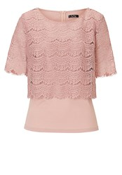 Vera Mont Lace Layered Top Rose