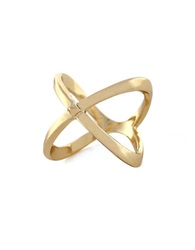 Bcbgeneration Knotted By Nature X Ring Gold