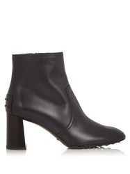 Tod's Gomma Leather Ankle Boots Navy