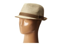 Stetson Textured Fedora With Contrast Linen Band Khaki Fedora Hats
