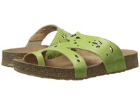 Haflinger Marcy Lime Women's Sandals Green