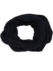 Label Under Construction Knitted Circle Scarf Black