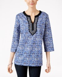 Charter Club Printed Tunic Only At Macy's Cloud Combo