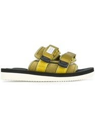Suicoke Buckled Sandals Yellow And Orange