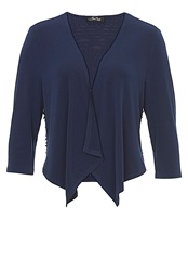 Vera Mont Short Jacket With Ribbon Textured Back Navy