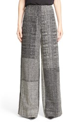Women's Jason Wu Wide Leg Jacquard Patchwork Pants