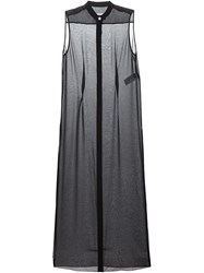 Maison Martin Margiela Mm6 Maison Margiela Long Sheer Sleeveless Shirt