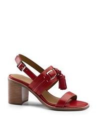 G.H. Bass Roselle Leather Sandals Red