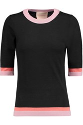 Roksanda Ilincic Wool Silk And Cashmere Blend Sweater Black