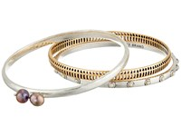 Lucky Brand Two Tone Bangle Set Multi Bracelet