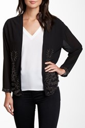 Fate Floral Beaded Cardigan Black