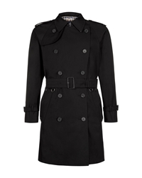 Aquascutum London Corby Double Breasted Raincoat Black
