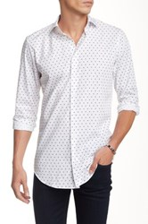 14Th And Union Woven Spread Collar Trim Fit Shirt No Color