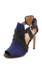 Joe's Jeans Prosper Open Toe Booties Bright Navy