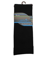Lemon Brushed Microfiber Trouser Socks Black