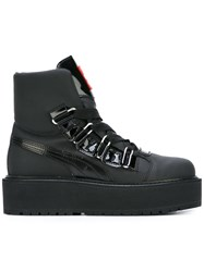 Puma Lace Up Platform Boots Black