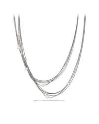 Four Row Chain Necklace With Pearls David Yurman