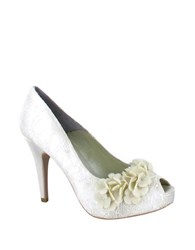 Menbur Rea Lace Pumps Ivory