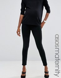 Asos Maternity Rivington Jegging In Washed Black Cord With Under The Bump Waistband Washed Black