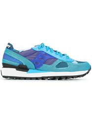 Saucony Patterned Lace Up Sneakers Blue