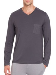 Hanro Long Sleeve Tee Dusty Night